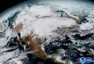 GOES-16 North America (Photo Credit: NASA/NOAA)